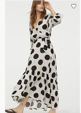 H&M SS2020 TREND LYOCELL WRAP OVER SPOTTED  DRESS BLOGGERS SOLD OUT HOLIDAYS