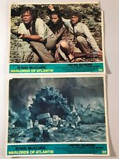 2 Original Lobby Cards 11x14: Warlords of Atlantis (1978) Doug McClure