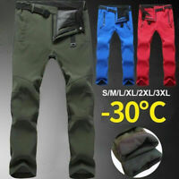 Waterproof Men Outdoor Sports Hiking Warm Fleece Trousers Fishing Trekking Pants