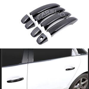 Real Carbon Fiber Door Handle Cover w/o Smart Hole For Audi A1 A4 A5 Q5 S5 09-16