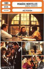 Fiche Cinéma. Movie Card. Pensées mortelles/Mortal Thoughts (USA) 1991