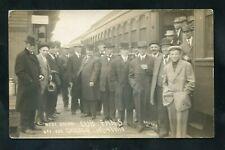 1910 RPPC Chicago CUBS Baseball West Union IOWA Railroad Depot photo postcard