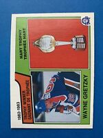 Wayne Gretzky HART TROPHY 1983-84 #203 O-Pee-Chee Hockey Card Edmonton Oilers
