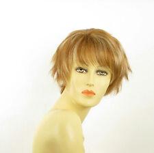 Perruque femme courte blond foncé méché blond clair VALENTINE F27613