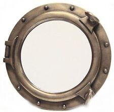 """Bronze Finish 24"""" Resin Porthole Mirror Nautical Round Wall Mount Port Hole"""