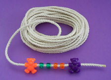"""50' Cotton Rope/Cord 1/8"""" Bird Toy Parts - For Pony Beads & Nautical Bracelets!"""