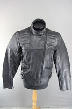 AMAZING SPORTEX MAXX BLACK LEATHER BIKER JACKET 38 INCH