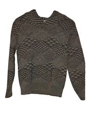 Mens Medium Pendleton Sweater Vintage Virgin Wool USA Made V-Cowl Neck Pull Over