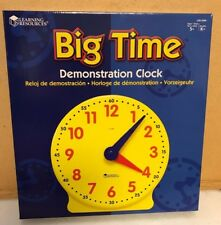 "Learning Resources Big Time Learning Clock 13"" Diameter 12 hour Brand New"