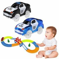 LED Car Toy DIY With Track Glowing Flashing Lights In Dark Racing Cars For Kids