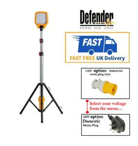 Defender LED Task Light Telescopic Tripod 240v/110v Work Site Lighting 900 LUMEN