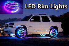 "4x 17.5""IP68 Waterproof Double Row Dream Chasing Color LED Wheel Rings Rim Light"