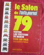 L'AUTO-JOURNAL  N° SPECIAL SALON 1979 de SEPTEMBRE 1979