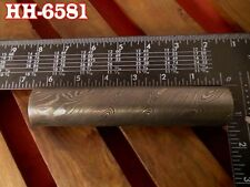 """6.4""""Forge Damascus steel 22.75 MM Hollow round Pipe guard/Ring jewelry@HH-6581"""