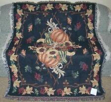 New AWESOME Autumn Fall Falling Leaves Pumpkin Squash Afghan Throw Gift Blanket