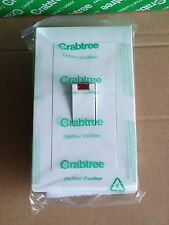 Crabtree 45A Double Pole Switch - Vertical 2-Gang With Neon - Simia UT216/3