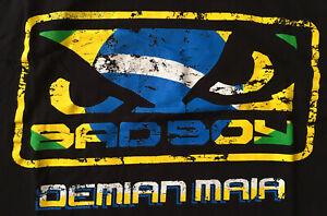 Official Bad Boy Pro Series Demian Maia Shirt, Black, Men's 2XL, UFC MMA BJJ