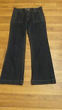 *St John's Bay* Wmn's 8 Dk Blue Mid Stretch Perfect Trouser Wide Leg Jeans 31x31