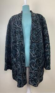 J JILL Cardigan Jacket Sweater Plus Size 4X Wool Blend Open Front