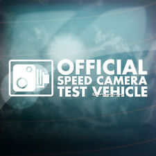 SPEED CAMERA TEST VEHICLE Funny Car,Window,Bumper JDM DUB Vinyl Decal Sticker