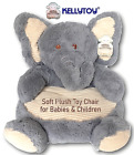 Plush Ultra Soft Toy Chair Gray Elephant for Baby development, Child; Org $69