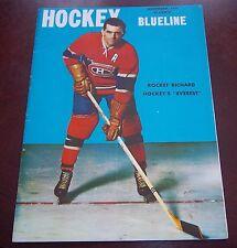 Hockey Blueline Magazine November 1956 Maurice Richard The  Hockey Monthly