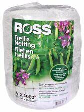 Ross Trellis Netting 5'  x 1000-Feet Garden Netting IN16300 New