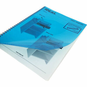 High Quality Transparent Tinted-Blue A4 Presentation Binding Covers 180Micron (1