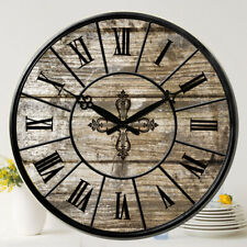 38 cm Large Wooden Wall Clocks Room Home Silent Decor Retro Antique Mdf Print