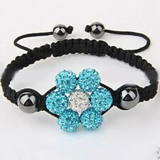 2018NEW  Sale  Lovely Flower Kids Children 10mm Shamballa Bracelets Jewellery