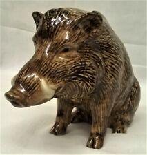 More details for quail ceramic wild boar moneybox money box or piggy savings bank - animal figure