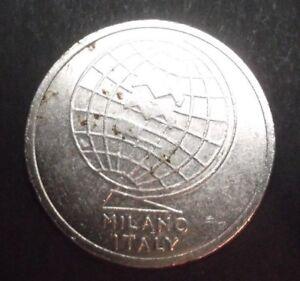 COLLECTABLE Nickel TOKEN JETON GETTONE MEDAL EXONUMIA MILANO ITALY circulated !!