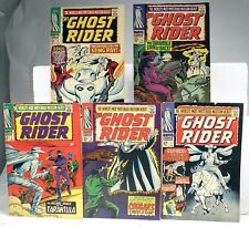 1967 THE GHOST RIDER 1 2 3 4 5  SERIES 1ST PHANTOM RIDER some books have faults