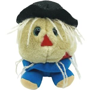 """SWIBCO Patches The Scarecrow Puffkins 5"""" Beanie Plush 1994 Vintage Puffkins EUC"""
