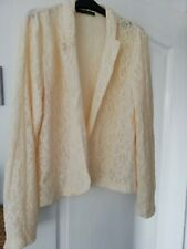 Cream Lace Jacket 16 By Primark