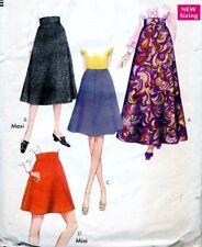 "Cut Sewing Pattern Ladies Panelled Back Zipper Skirts Size 14 (waist 29"")"