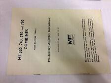 NOS MASSEY FERGUSON MF 520, 740, 750, 760 COMBINES NEW PROFILE TABLE BOOKLET
