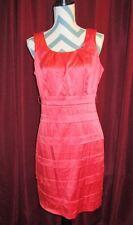Womens Size 9/10 High Waist Dark Coral Back Zip Party Dress Or Evening Wear