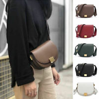2 Szs Small/ Large Real Leather Shoulder Bag Flap Purse Trunk Saddle Crossbody