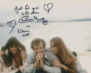 "Caroline Munro 10"" x 8"" photo signed in person - James Bond - K682"
