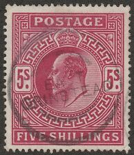 Kappysstamps X54 Great Britain George V Scott 140a Deep Carmine Used Cat $225