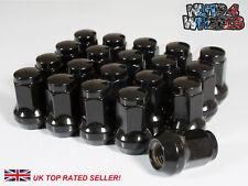 20 x Black Hex Wheel Nuts M12x1.25 Fits Nissan Almera NV200 Tiida Cube Murano