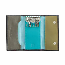 Real classic Multicolour leather key ring holder with 6 hook by DUDU