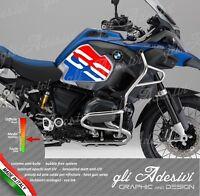 2 Adesivi Fianco Serbatoio Moto BMW R 1200 gs adventure LC Blu & Red GS
