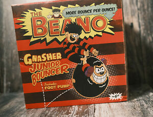 THE BEANO GNASHER JUNIOR BOUNCE INCLUDES FOOT PUMP BELL AND CURFEW 2013