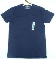 BNWT Mens Primark Cotton V Neck T-Shirt Short Sleeve Top Medium Regular Navy Red