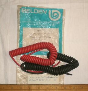 """1 Pair Coil Test Prod Leads, BELDEN #8879,  Lot 45, 8""""-5' , Made in USA"""