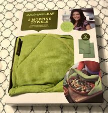 NEW! Rachael Ray Set of 2 Solid Moppine Kitchen Towels, Green