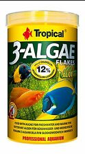 20g/100ml Tub Tropical 3-ALGAE FLAKES food Algae for freshwater & marine fish