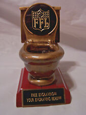 FANTASY FOOTBALL TOILET BOWL LAST PLACE TROPHY/AWARD